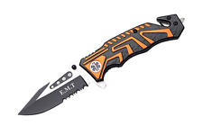 "Snake Eye Tactical "" EMT "" Rescue Style Action Assist Folding Knife 4.5"""