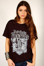 IT'S ONLY ROCK N ROLL-RICK GRIFFIN art  LOGO TEE SHIRT-BLACK-Xtra large