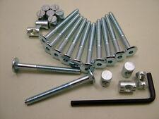 Lit/cot bolts 12 sets of M6 x 60mm boulon, allen clés & 14mm baril écrou = 25 objets