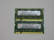 LOT 2 X 2GB= 4GB Hynix 2GB PC2-6400 DDR2-800MHz non-ECC Unbuffered  200-Pin SODI
