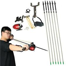 Hunting Fishing Carbon Arrow Archery Shooting Wrist Slingshot Catapult Sling Bow