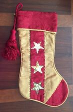 "Vintage House Of Hatten 18"" Quilted Star Stocking Retired"