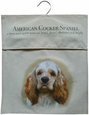American Cocker Spaniel Natural Sturdy Cotton Canvas Peg Bag Useful Gift