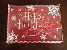 Hallmark/Image Arts ~ Boxed Lot Of 16 Christmas Cards ~ Happy Holidays ~ NIB