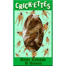 Hotlix Crick-ettes Sour Cream & Onion - 4 PACK - Insects Bugs Crickets Snacks!