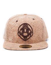 OFFICIAL NINTENDO'S SUPER MARIO BRO'S MARIO FACE CORK SNAPBACK CAP (BRAND NEW)