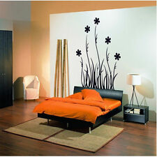 Home DIY Wall Sticker Livingroom Bedroom Black Fllower Vinyl Art Decal Wallpaper