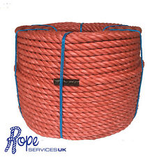 Red Poly Rope Coils, Polyrope, Polypropylene, Agriculture, 18mm x 220 Metre Coil