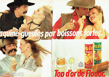 PUBLICITE ADVERTISING 036  1980  Flodor petites tuiles salées ( 2p) TOP D' OR