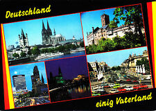 Deutschland einig Vaterland ,1990 gelaufene AK