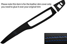 BLUE STITCH TWO PIECE DASH KIT LEATHER COVERS FITS MITSUBISHI LANCER EVO 7 8 9
