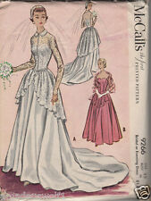 Vintage 50's McCALL'S 9266 WEDDING*BRIDAL*EVENING DRESS/GOWN -Sewing Pattern B32