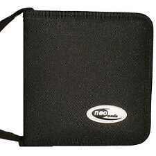 24 Sleeve CD DVD Blu Ray Disc Carry Case Holder Bag Wallet Storage Nylon - Neo