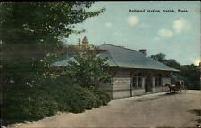Natick MA RR Train Station Depot c1910 Postcard rpx