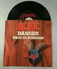"AC/DC Danger b/w Back in Business 7"" 45 vinyl"