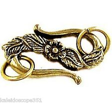 CLASPS HOOK & EYE CLASP 25MM 2PCS ANTIQUED GOLD PEWTER