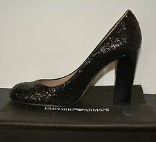 NIB EMPORIO ARMANI $495 GLITTER PUMPS SHOES SZ US 9 EU 39 MADE IN ITALY