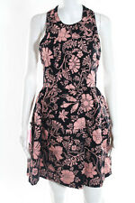 Jill Stuart Pink Black Abstract Print Racerback Dress Size 2 $169 New JG05