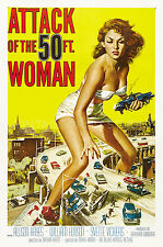 ATTACK OF THE 50 FT. WOMAN Vintage Movie Poster Giclee Canvas Print 20x30