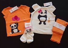 NWT Gymboree Panda Academy 12-18 Months White Bow & Balloon Tee Leggings & Socks
