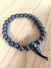 Bracelet Hématite puissance cristal de guérison, échouage, gemstone, bijoux, Mala