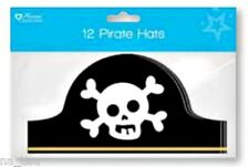 12pc PIRATE HAT kids paper Party bag toy costume fancy dress Capitan Hook skull