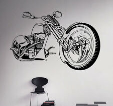 Motorcycle Vinyl Decal Bike Chopper Vinyl Stickers Home Interior Garage Decor 4
