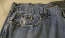 "AXIST MEN'S DISTRESSED STYLE JEANS 42"" W X 30"" L STR LEG $6.00 USPS-USA SHIPPING"