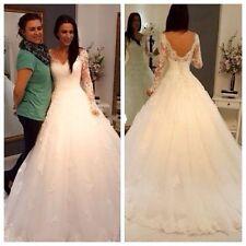 Hot White/Ivory Lace Wedding Dress With Long Sleeve Custom Size 2 4 6 8 10 12+++