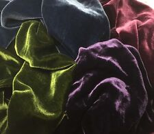 "Silk VELVET Victorian JEWELS Colors Fabric Sample Set Remnants Lot - 6""x22"" Each"
