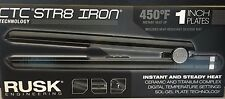 Rusk CTC Str8 Ceramic Flat Iron Instant Heat Up 1 Inch Plates