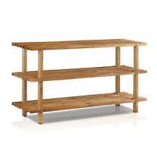 FURINNO Furinno Pine Solid Wood 3-Tier Shoe Rack, Cherry FNCJ-33003EX Shoe Rack