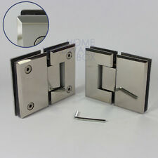 2 framless glass shower door hinge chrome 180 degrees glass to glas beveled edge