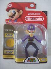 "World of Nintendo 4"" Series 1-5 WALUIGI toy action figure SEALED Super Mario"