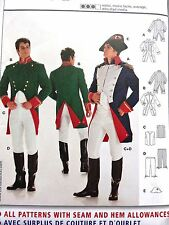 BURDA Men's Costume NAPOLEON Historical Military Uniform Pattern 2471 Size 36-48