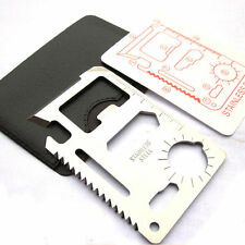 Multi 11 in 1 Outdoor Survival Camping Tools Credit Card Knife Bottle Opener A
