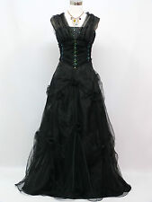 Cherlone Small Size Black Ballgown Wedding/Evening Formal Bridesmaid Dress 12-14