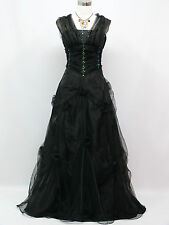 Cherlone Clearance Plus Size Black Long Ballgown Wedding Evening Dress 18-20