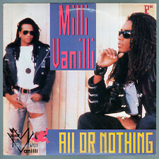 "Milli Vanilli - All or Nothing (1990) PROMO Vinyl 12"" • Girl You Know it's True"
