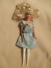Barbie Doll In Blue Dress with Green Earrings; in overall good condition; L@@K