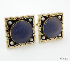 Vintage Swank 1950s Cufflinks MADRID from Grand Prix Collection Purple stone