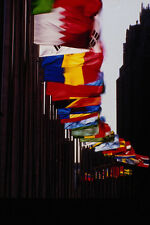 518002 Flags Of The UN Member States Fly At Headquarters 1992 A4 Photo Print