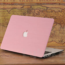 "PU Leather Wood Grain Hard Case Cover for Macbook Air Pro 11 13 15"" Retina"