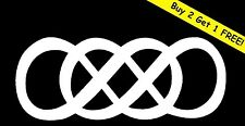DOUBLE INFINITY VINYL DECAL CAR WINDOW WALL LAPTOP BUMPER STICKER SYMBOL TIMES