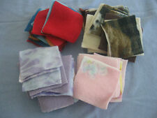 """FELT QUILTING SQUARES(2-1/2"""" to 4"""")RED/BLUE/PINK/LAVENDER/BROWN/GREEN(54 TOTAL)"""