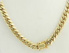 """175 gm 14k Gold Solid Yellow Men's Heavy Miami Cuban Necklace Chain 26"""" 9.50 mm"""
