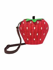 Collectif STRAWBERRY Erdbeere 50s Wicker Bag / Bast Tasche  Rockabilly