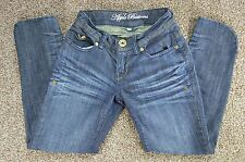 Apple Bottoms By Nelly Junior Cropped Denim Dark Blue Jeans Size 1/2 (23 X 24)