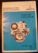 Deutz Motoren F 3-6 L 912 (W) Betriebsanleitung