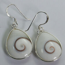 Drop of Water Dangle Thailand Shiva Eye Earrings Sterling Silver 1010